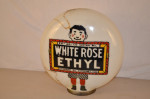 White Rose Ethyl Opb Milkglass Globe