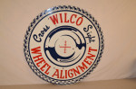 Wilco Wheel Alignment Double-Sided Porcelain Sign