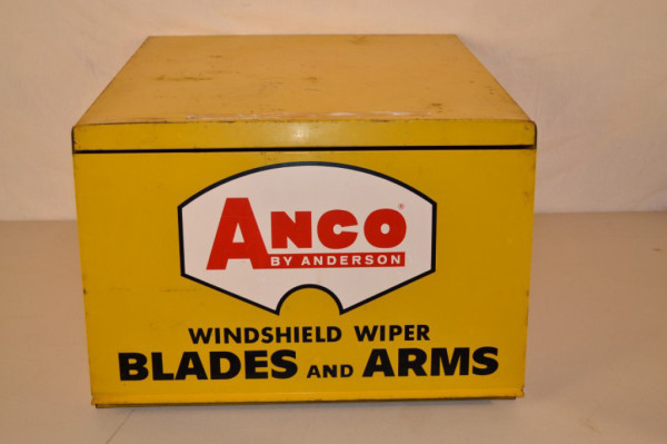 Anco Wiper Blades >> Anco Wiper Blades Metal Counter-Top Cabinet | Antique Advertising Value and Price Guide