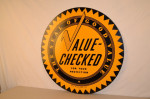 Value Checked Single-Sided Tin Sign