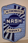 Nash Double-Sided Porcelain Diecut Sign