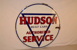 Hudson Cars Double-Sided Porcelain Sign
