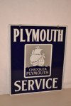 Plymouth Service Double-Sided Porcelain Sign