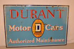 Durant Motor Cars Double-Sided Porcelain Sign
