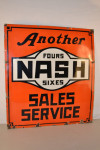 Nash Single-Sided Porcelain Sign