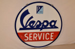 Vespa Double-Sided Porcelain Sign
