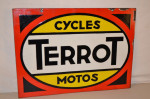 Terrot Double-Sided Porcelain Sign