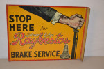 Raybestos Brake Service Tin Flange Sign