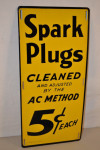 Spark Plugs Cleaned Single-Sided Tin Sign