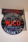 Wico Electric Co. Tin Flange Sign