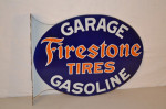 Firestone Tires Porcelain Flange Sign