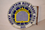 Rocky Mountain Auto Trade Ass'n Double-Sided Flange Sign
