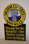 Vacuum Cup Tires Double-Sided Porcelain Sign