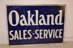 Oakland Double-Sided Porcelain Sign