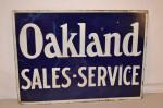 Oakland Double-Sided Porcelain Sign