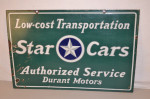 Star Cars Double-Sided Porcelain Sign