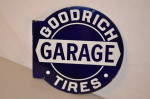 Goodrich Tires Porcelain Flange Sign