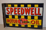 Speedwell Motor Oil Porcelain Flange Sign
