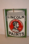 Lincoln Paints Porcelain Flange Sign