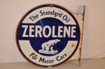 Zerolene Double-Sided Flange Sign