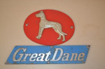 Great Dane Aluminum Plaques