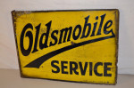 Oldsmobile Porcelain Flange Sign