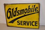 Oldsmobile Porcelain Flange Sign