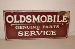 Oldsmobile Double-Sided Porcelain Sign