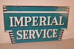 Imperial Service Double-Sided Porcelain Diecut Sign