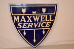 Maxwell Service Double-Sided Porcelain Diecut Sign