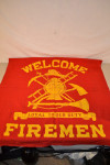 Welcome Firemen Cloth Banner