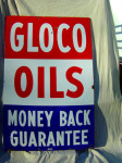 Gloco Oils Single-Sided Porcelain Sign