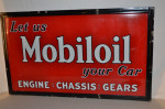 Mobiloil Single-Sided Porcelain Self-Framed Sign