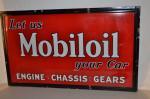 Mobiloil Single-Sided Porcelain Self-Framed Sign