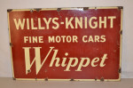 Willys-Knight Double-Sided Porcelain Sign