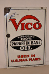 Vico Oil Double-Sided Porcelain Sign