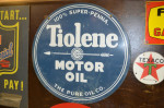 Tiolene Motor Oil Double-Sided Porcelain Sign