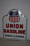 Union Gasoline Double-Sided Porcelain Diecut Sign