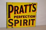 Pratts Porcelain Flange Sign