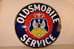 Oldsmobile Single-Sided Porcelain Sign