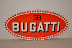 Bugatti Single-Sided Porcelain Oval Sign