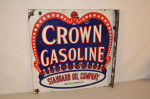 Crown Gasoline Double-Sided Flange Sign