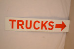 Trucks Single-Sided Porcelain Sign