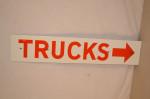Trucks Single-Sided Porcelain Sign