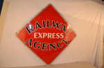 Railway Express Agency Single-Sided Porcelain Sign