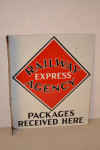 Railway Express Agency Porcelain Flange Sign