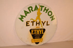 Marathon Double-Sided Porcelain Sign