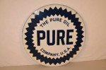 Pure Double-Sided Porcelain Sign
