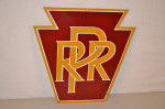 Pennsylvania Railroad Porcelain Diecut Sign