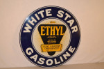 White Star Gasoline Double-Sided Porcelain Sign